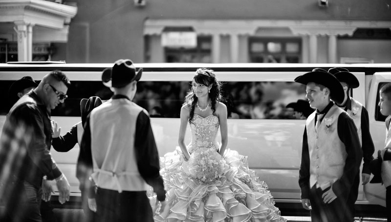 Quinceanera with Hummer Limo