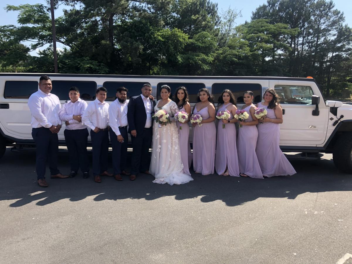 Hummer Wedding Limo in Raleigh